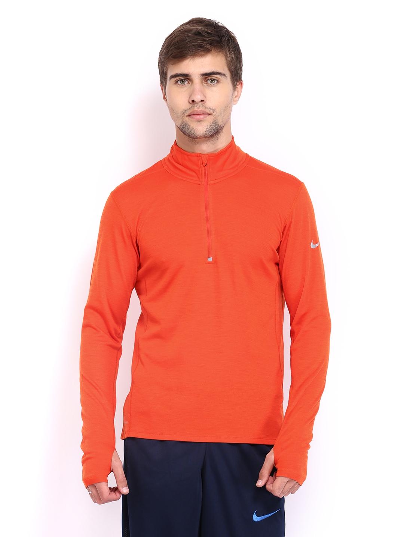 Myntra nike men orange dri fit running t shirt 469715 for Nike t shirt price