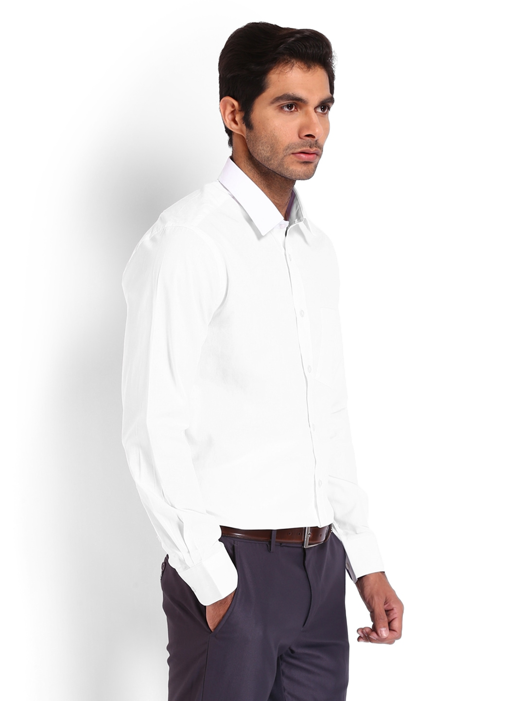 Myntra nord51 men white formal shirt 493838 buy myntra for Mens formal white shirts