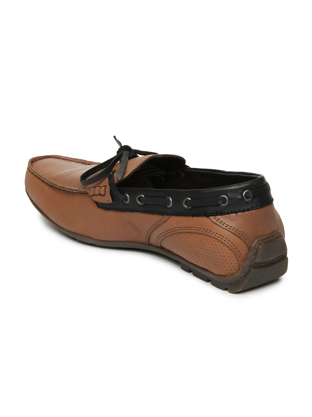myntra numero uno brown leather boat shoes 408845
