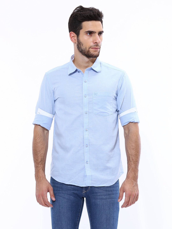 Myntra numero uno men light blue linen casual shirt 418700 for Mens light blue linen shirt