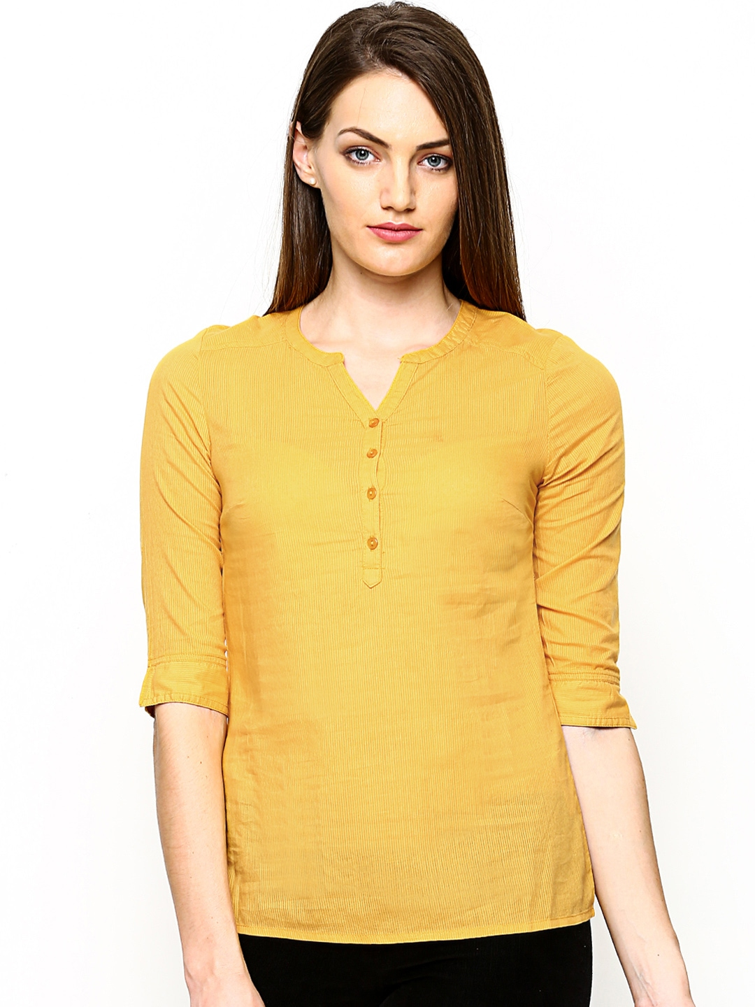 Only women mustard yellow top 500559 buy myntra only tops at best