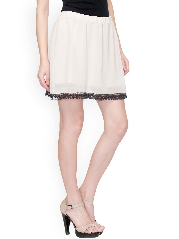 myntra oxolloxo white a line skirt 800174 buy myntra