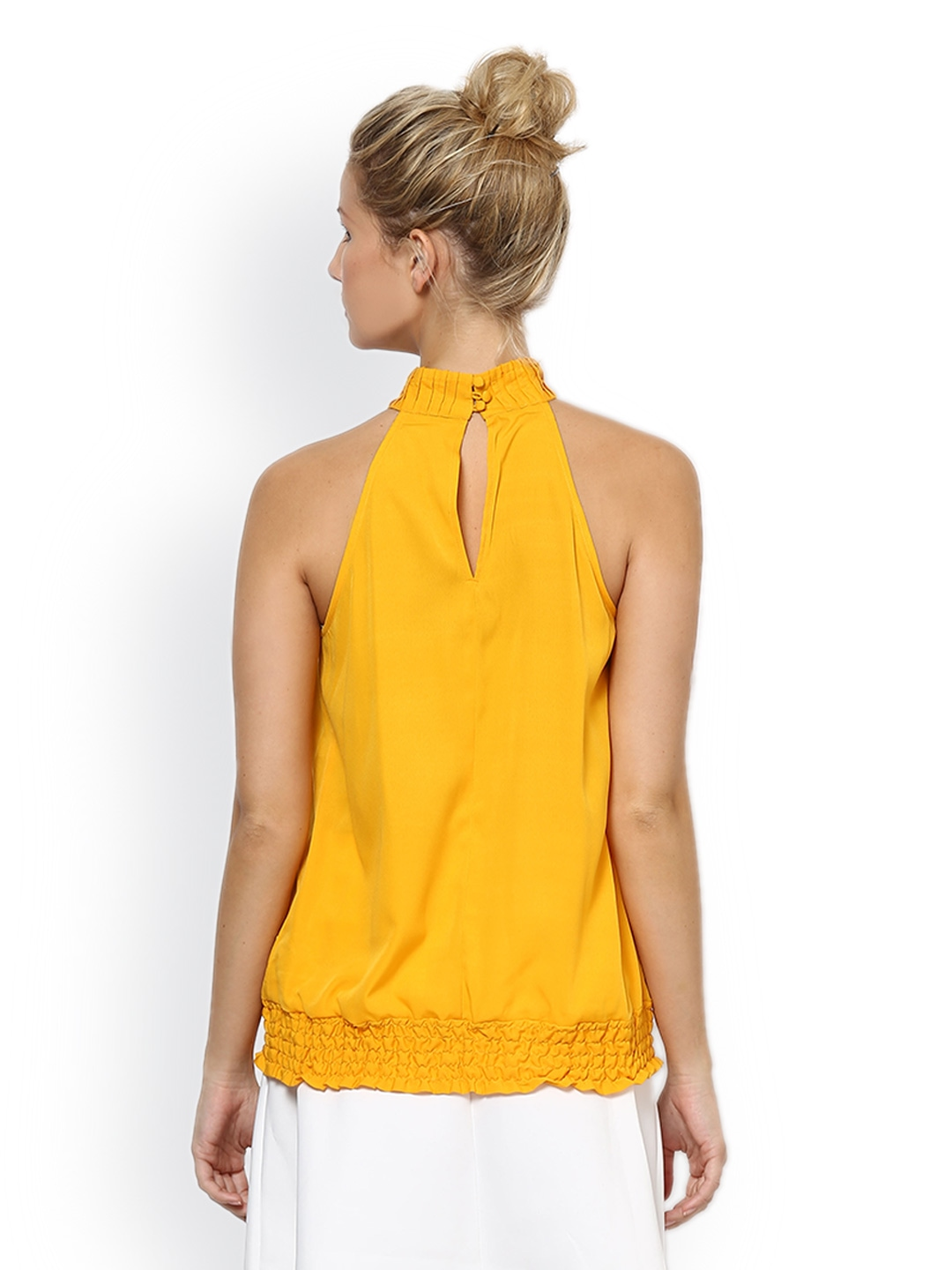 Women mustard yellow top 512539 buy myntra palette tops at best
