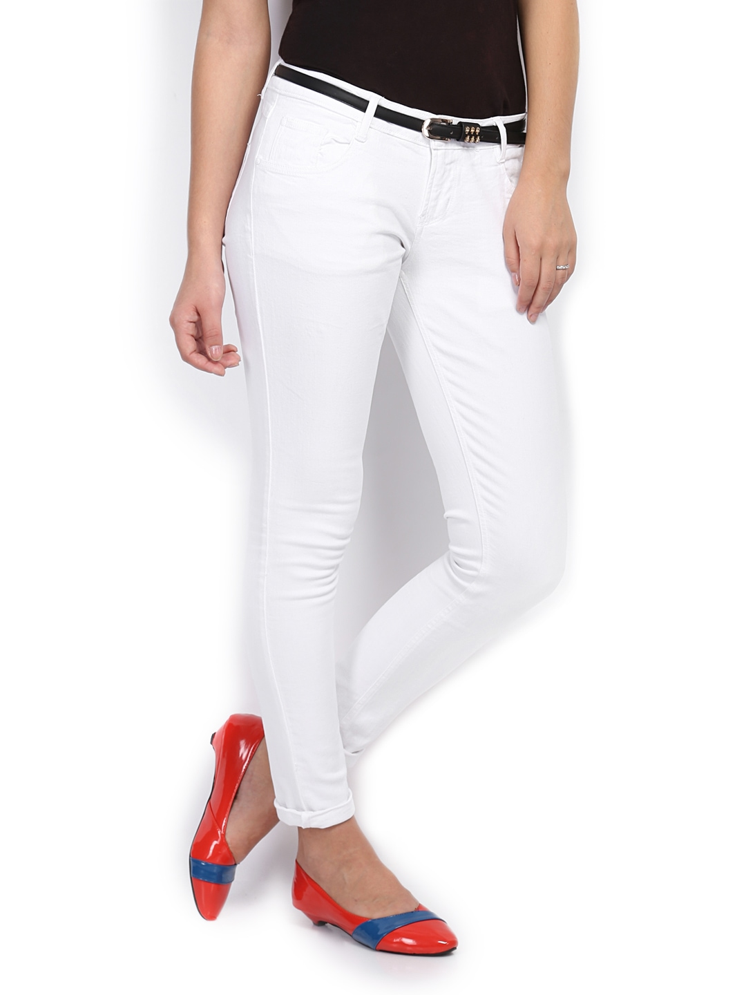 Buy People Women White Jeans 2845519 for women online in india on ...