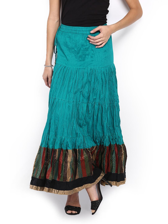 myntra peppertree green maxi skirt 329497 buy myntra