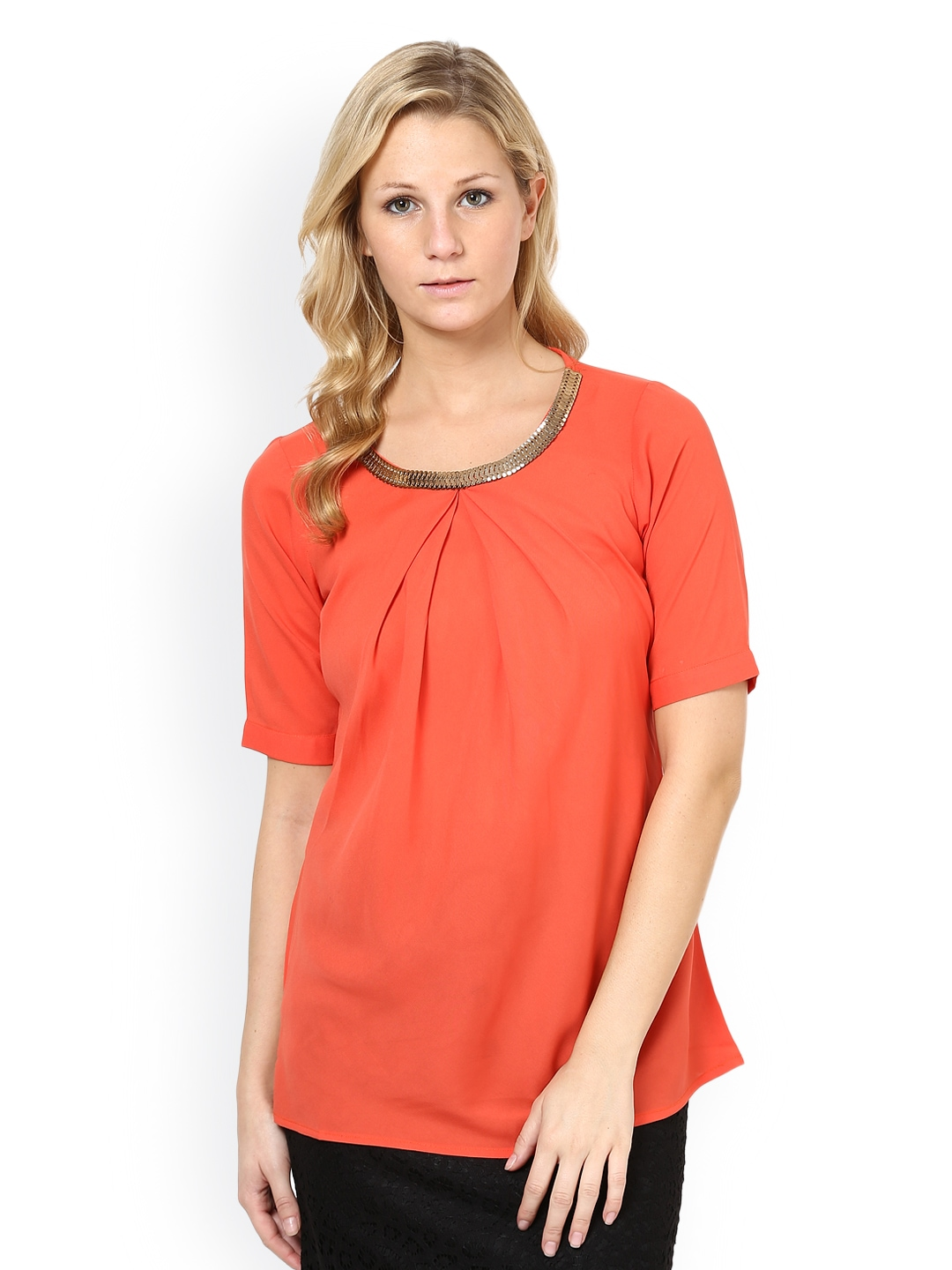 Flared Coral Front Long Top Womens Knot Bow Tunic Tee Dress Swing Ruched Sleeve Ladies ___. a.m. North Korea's state media have reported the visit of U.S. Secretary of State Mike Pompeo a day after he arrived in Pyongyang but did not describe the nature of his talks with North Korean officials over the future of the country's nuclear weapons program.