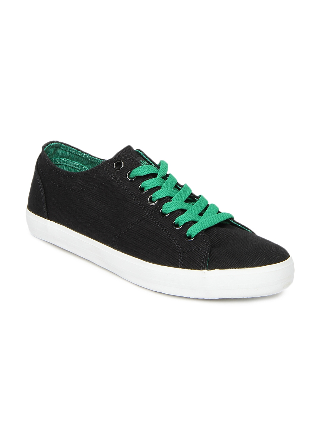 myntra roadster black canvas shoes 288620 buy myntra