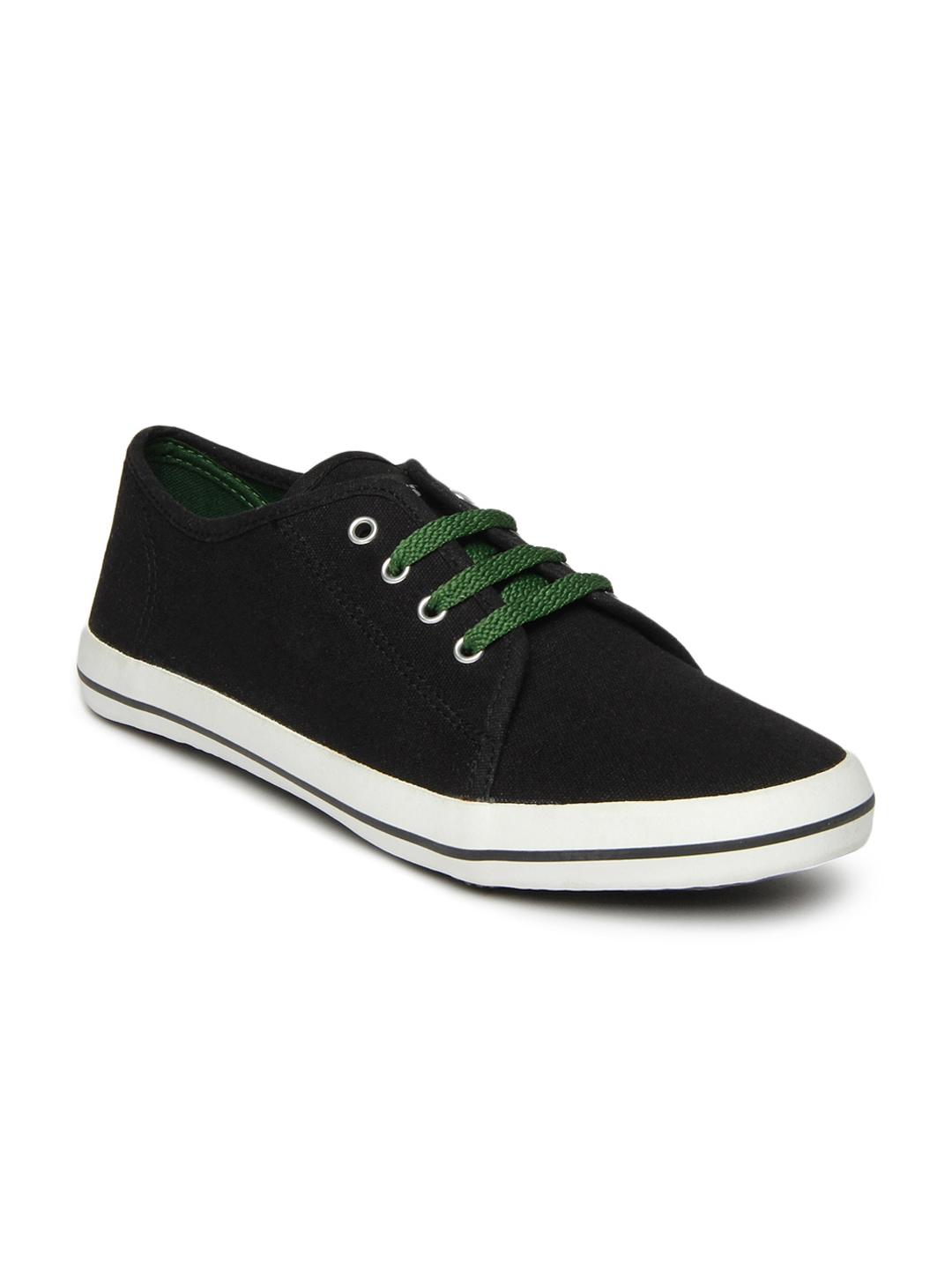 myntra roadster black casual shoes 438559 buy myntra