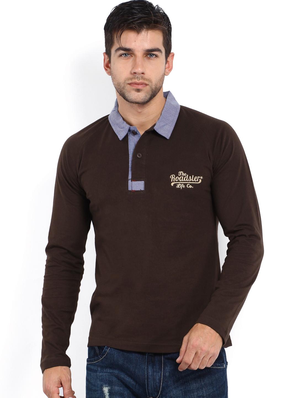 Myntra Roadster Men Brown Polo T Shirt 482292 Buy Myntra
