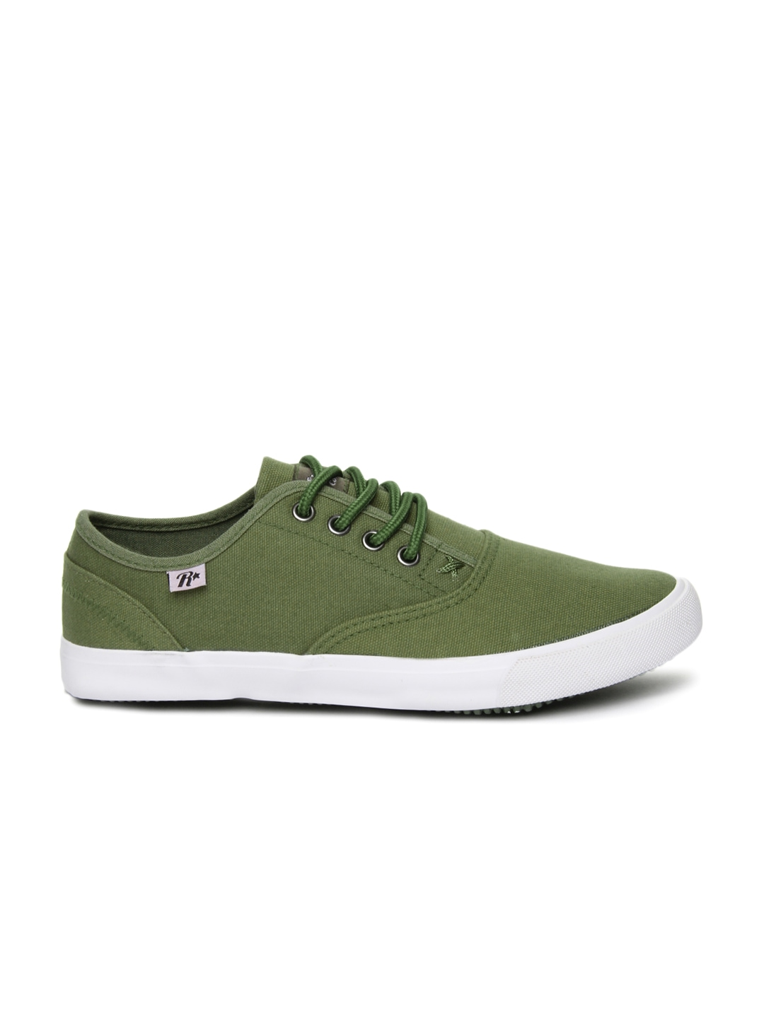 myntra roadster green canvas shoes 657952 buy myntra