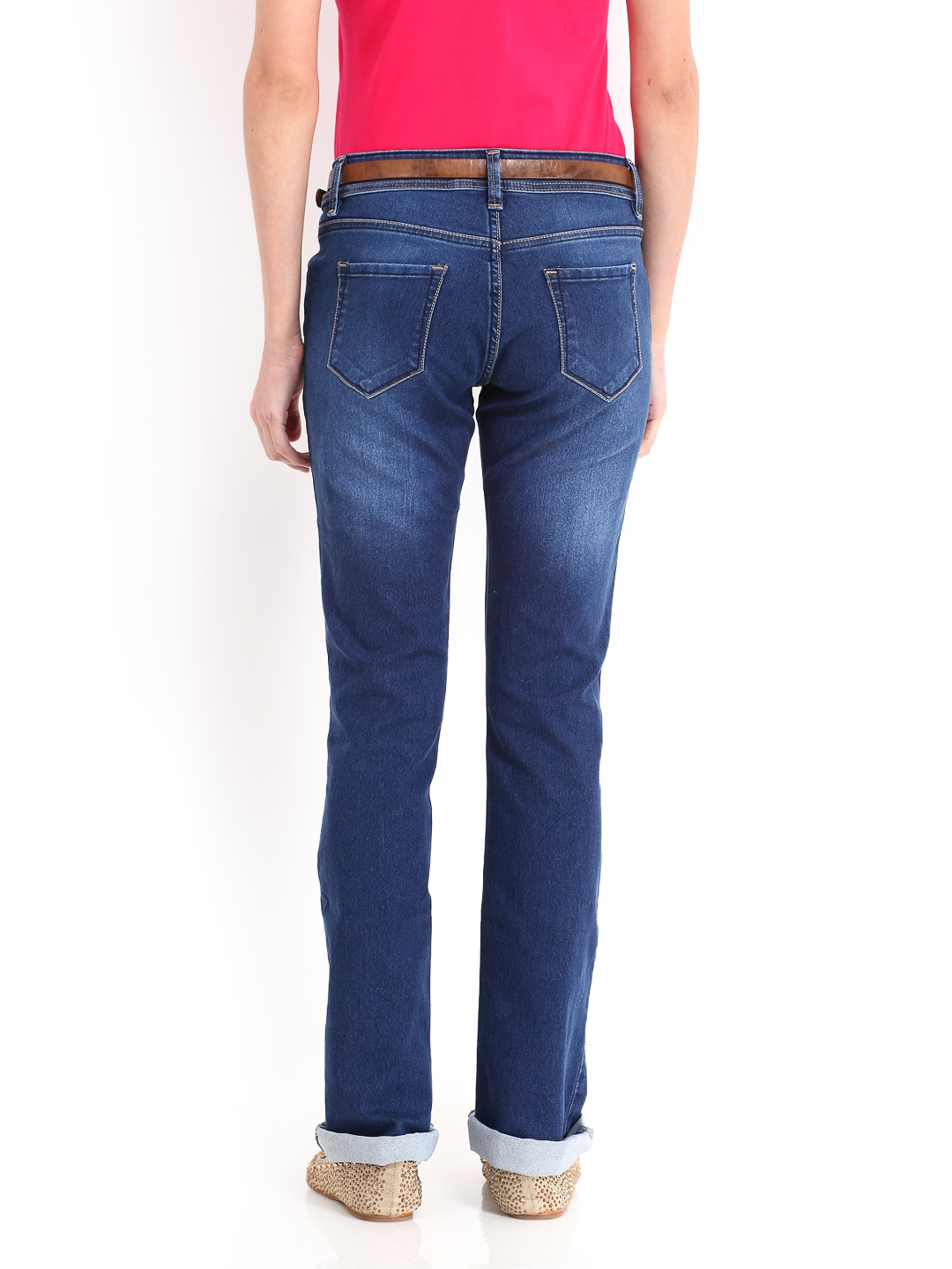 Buy Roadster Women Blue Bootcut Jeans 2414363 for women online in ...