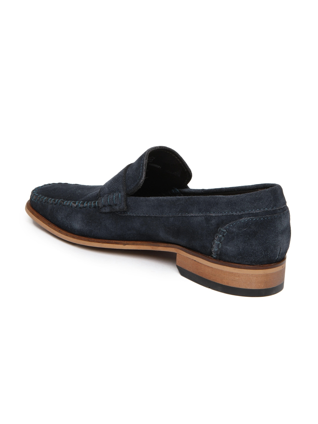 myntra ruosh occasion blue leather semi formal shoes