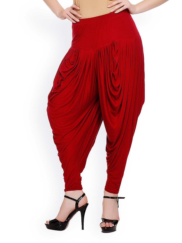 Original Womens Burgundy Red Waistband Elastic Skinny Cotton Pants Trousers