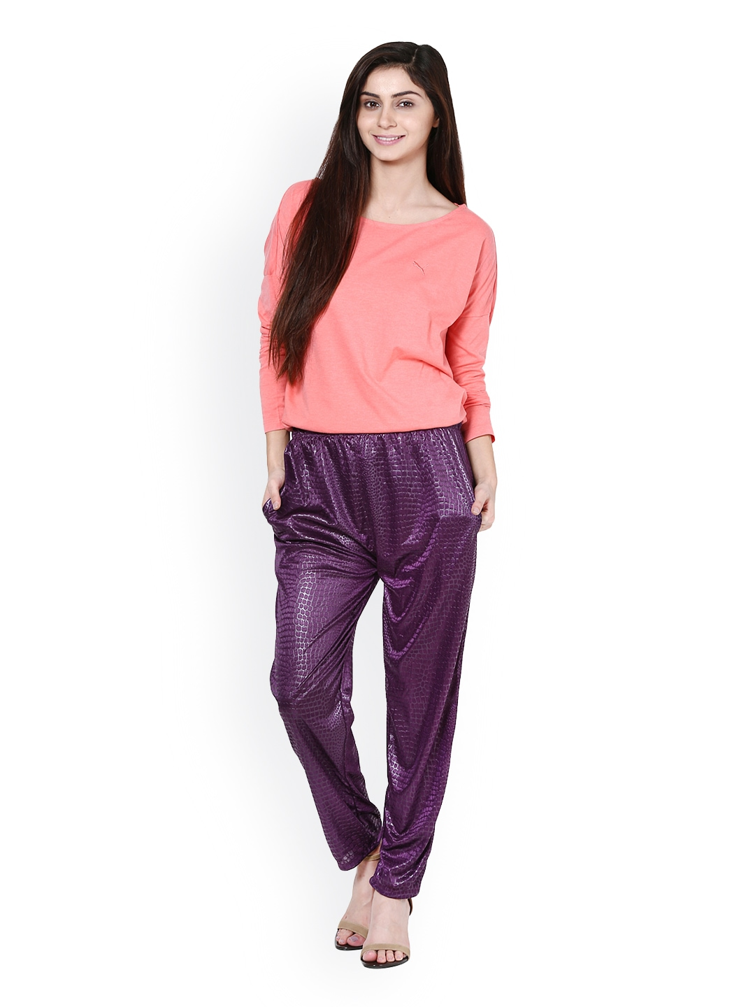 Luxury Theory Demitria Flare Pant In Burgundy
