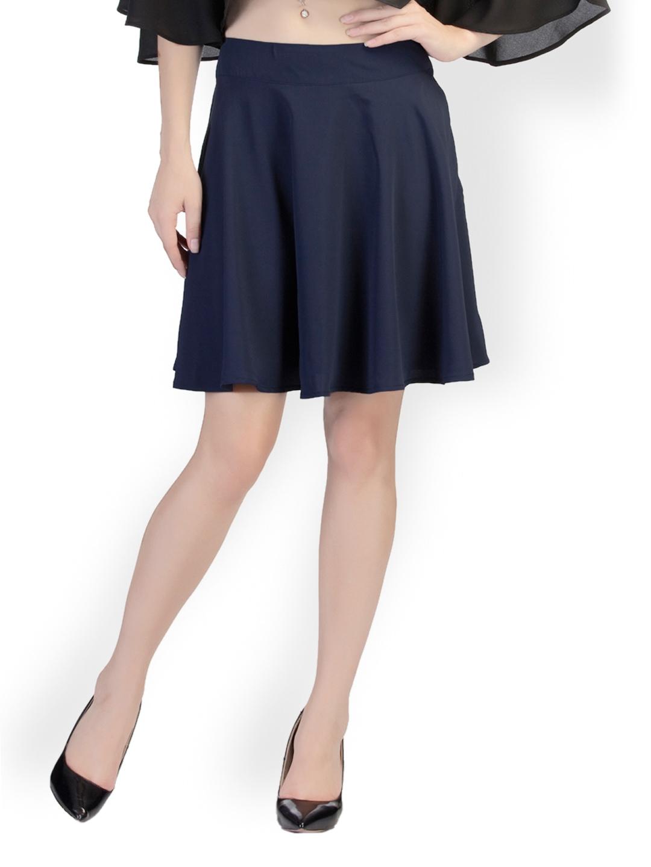 myntra schwof navy blue skater skirt 647279 buy myntra