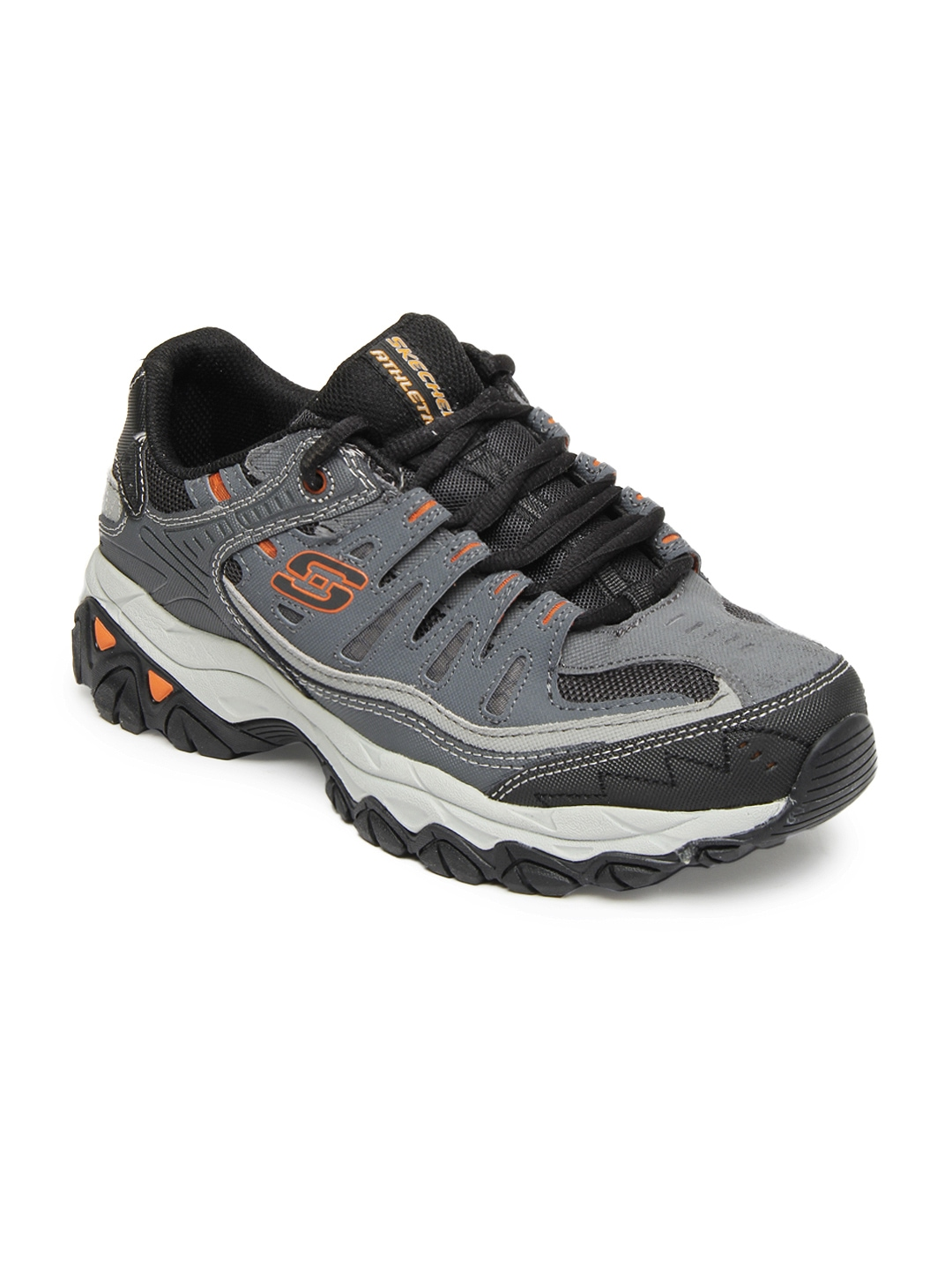 myntra skechers grey after burn m fit sports shoes
