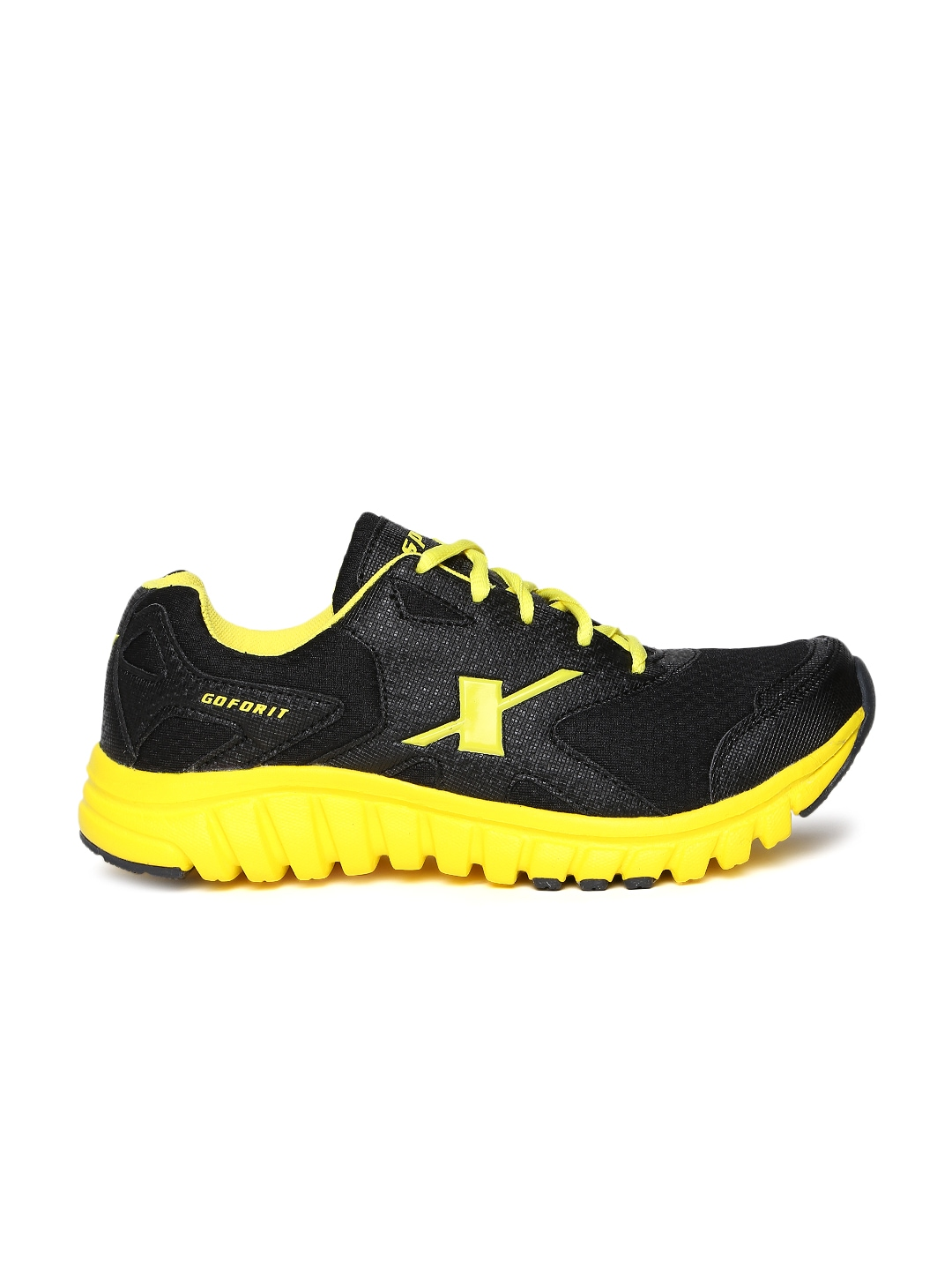 myntra sparx black sports shoes 548063 buy myntra