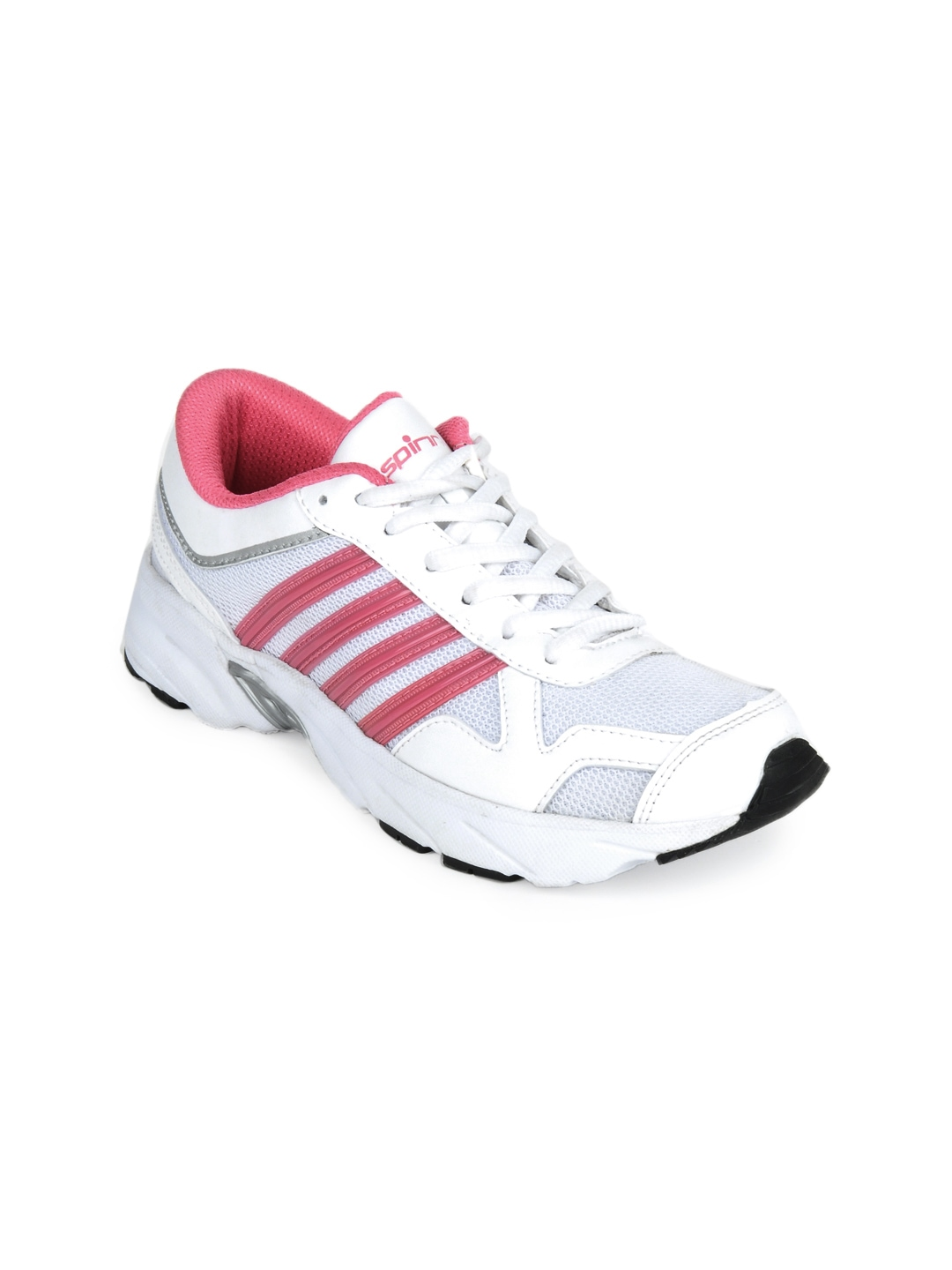 myntra spinn white pink sports shoes 106652 buy