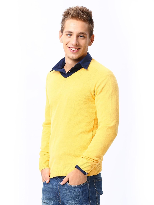 Buy Sports 52 Men Yellow Sweater 1410149 for men online in india ...