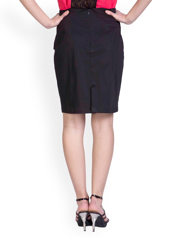 myntra sugar black pencil skirt 589563 buy myntra