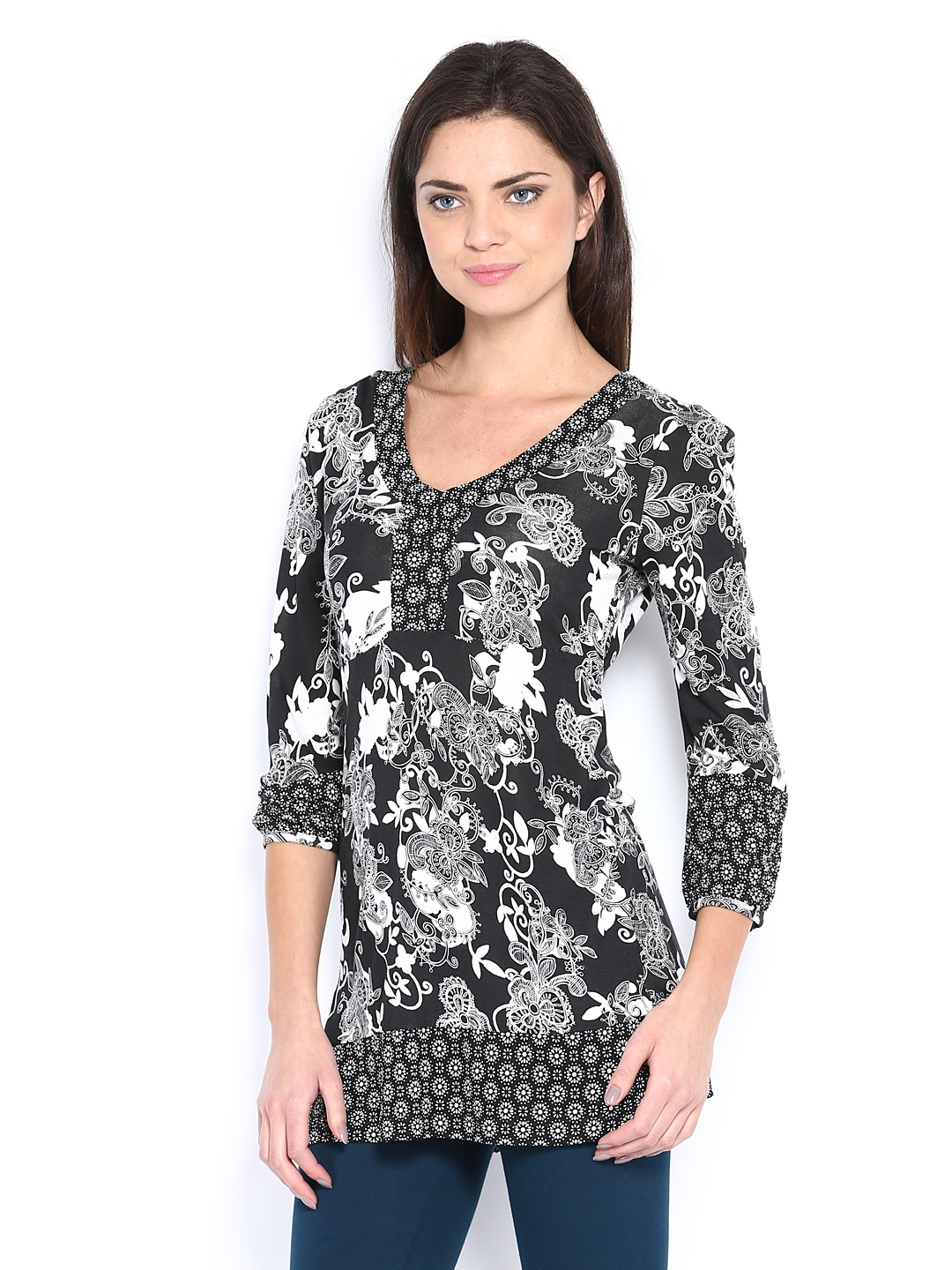 Myntra The Collection by Debenhams Women Black & White ...