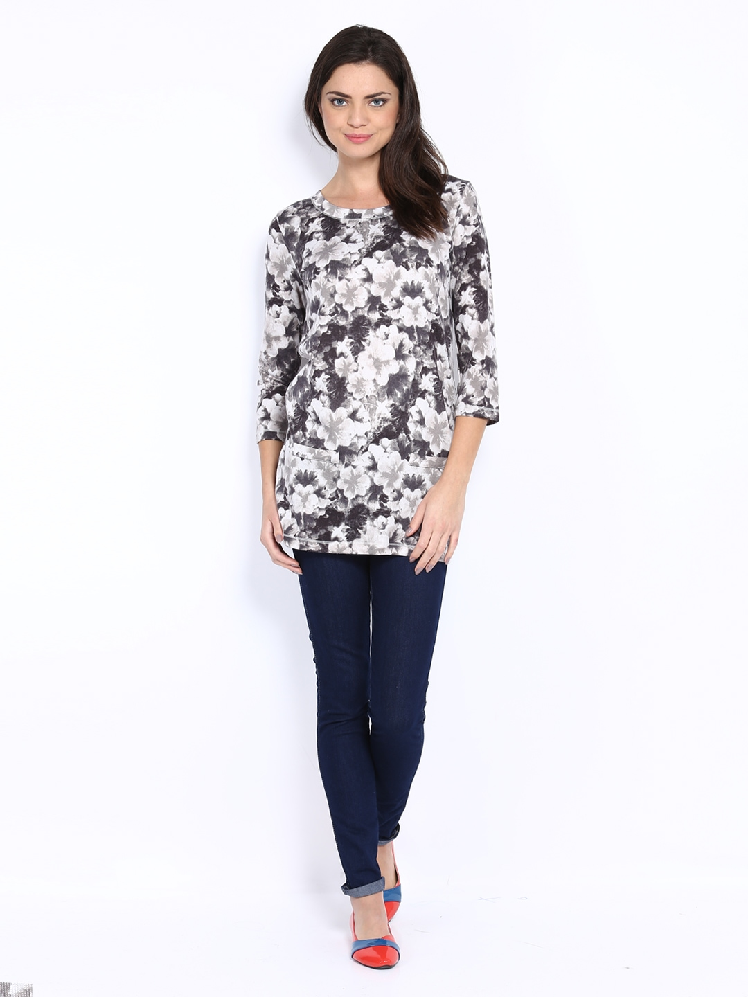 Myntra The Collection by Debenhams Women Off-White & Grey ...