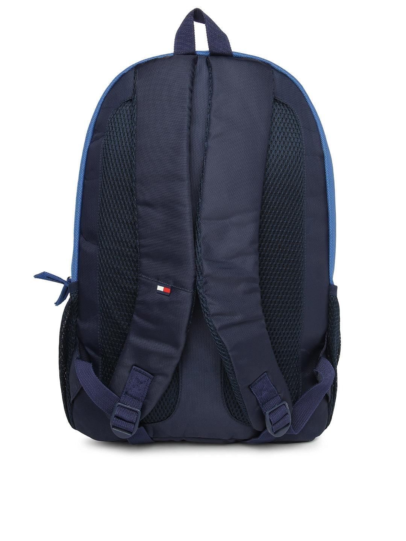 myntra tommy hilfiger unisex blue backpack 528616 buy. Black Bedroom Furniture Sets. Home Design Ideas
