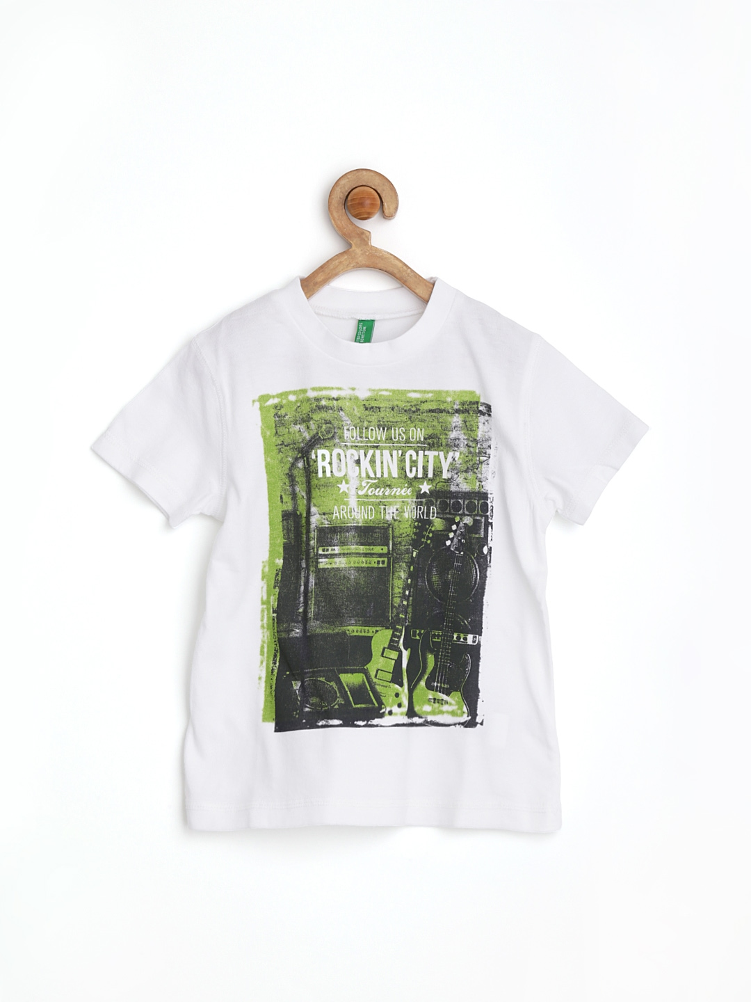 Myntra united colors of benetton boys white printed t for Boys printed t shirts