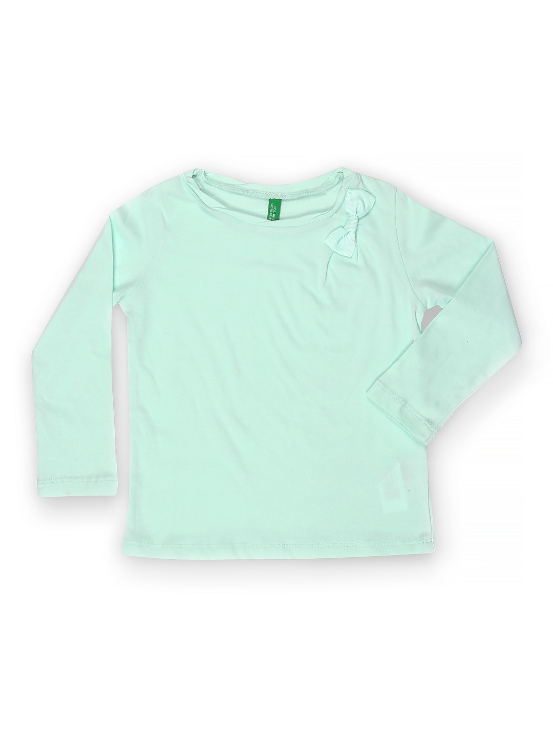 Myntra united colors of benetton girls mint green t shirt for Mint color polo shirt