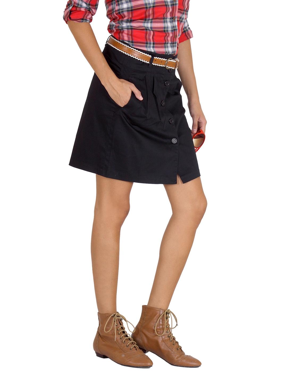 Myntra united colors of benetton women black skirt 37208 for Shop online benetton