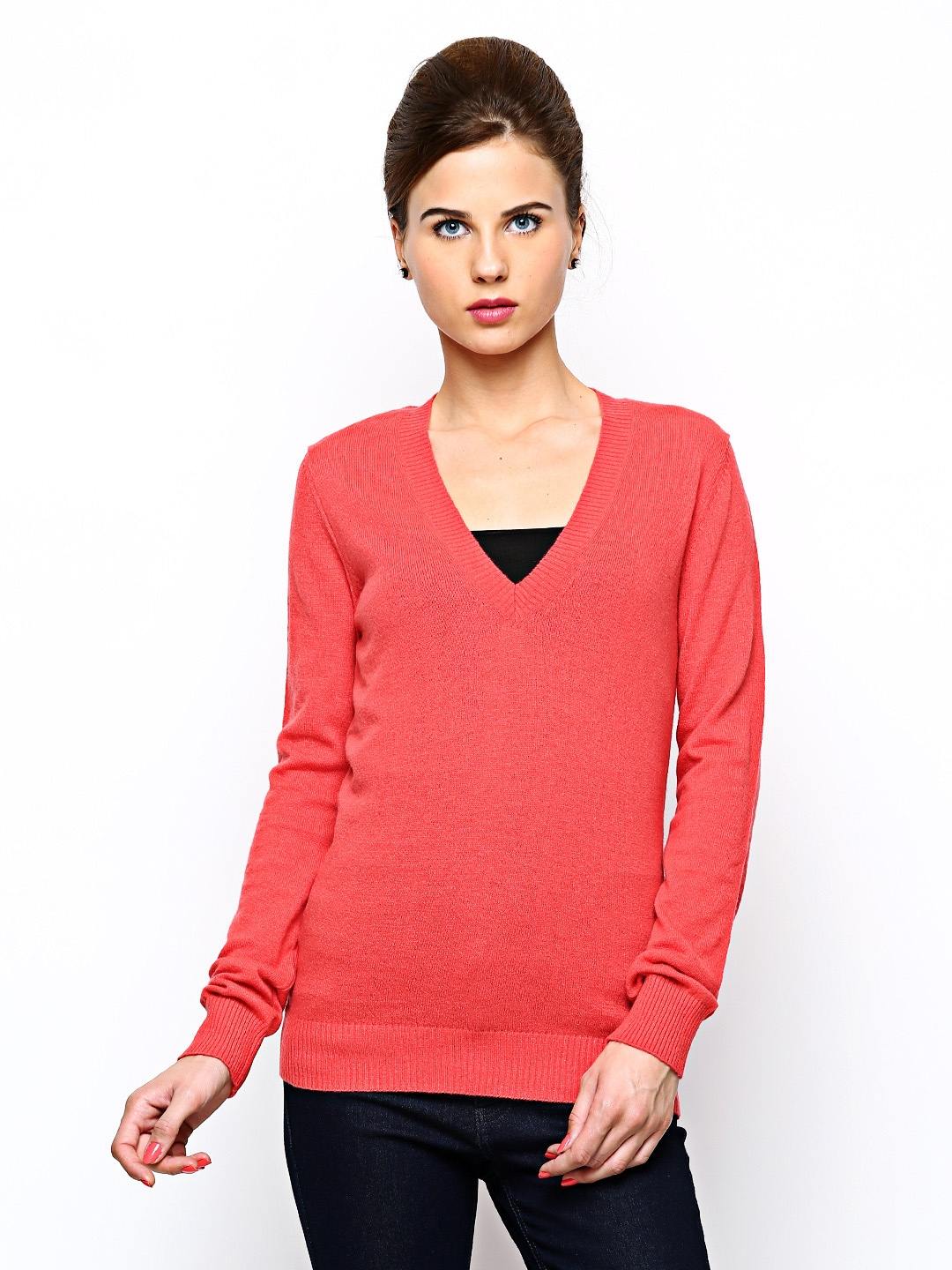 Myntra United Colors of Benetton Women Red Cardigan 279035  Buy