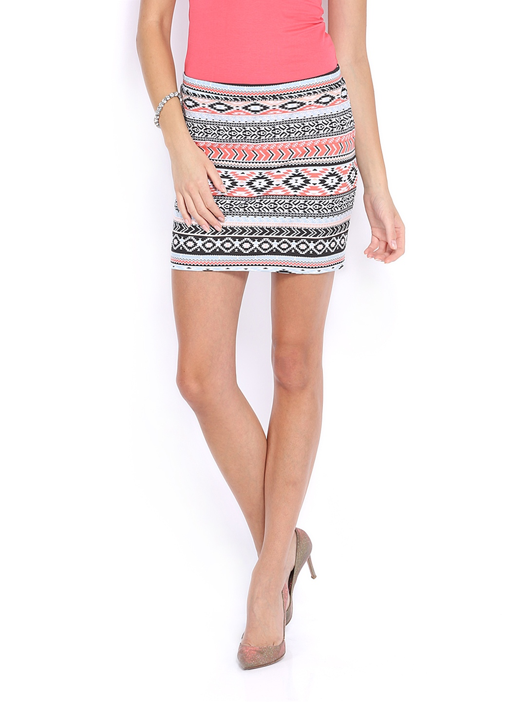 Buy Vero Moda Multi Coloured Aztec Print Mini Skirt - Skirts for ...