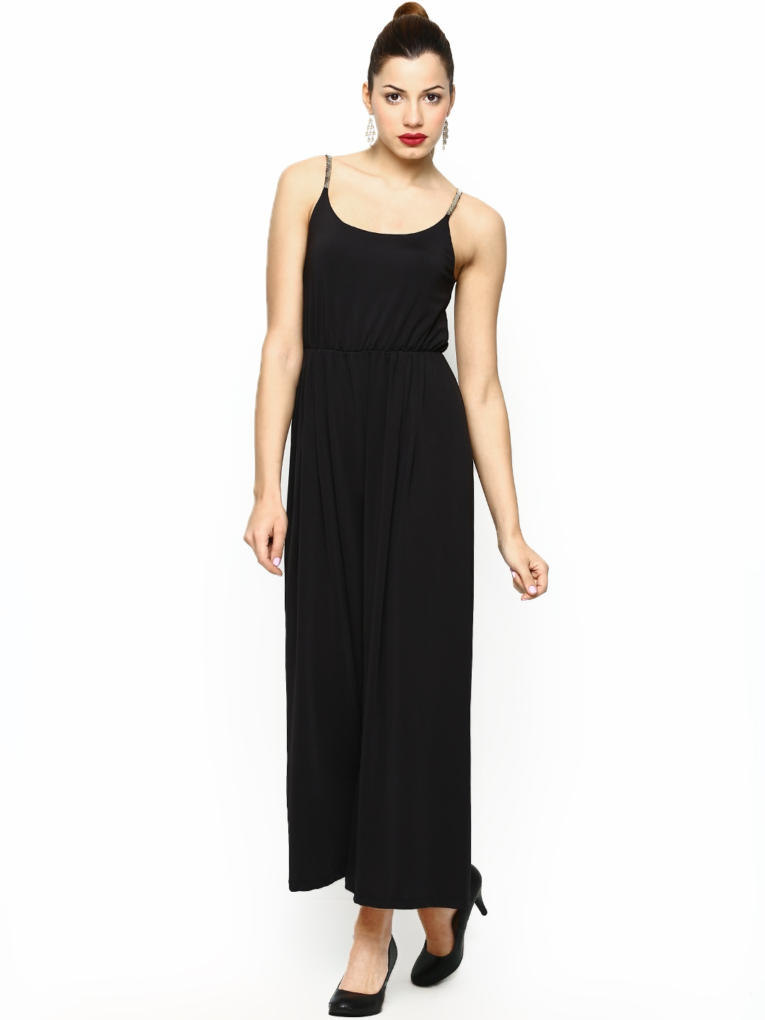 myntra vero moda women black jumpsuit 559830 buy myntra vero moda jumpsuit at best price. Black Bedroom Furniture Sets. Home Design Ideas
