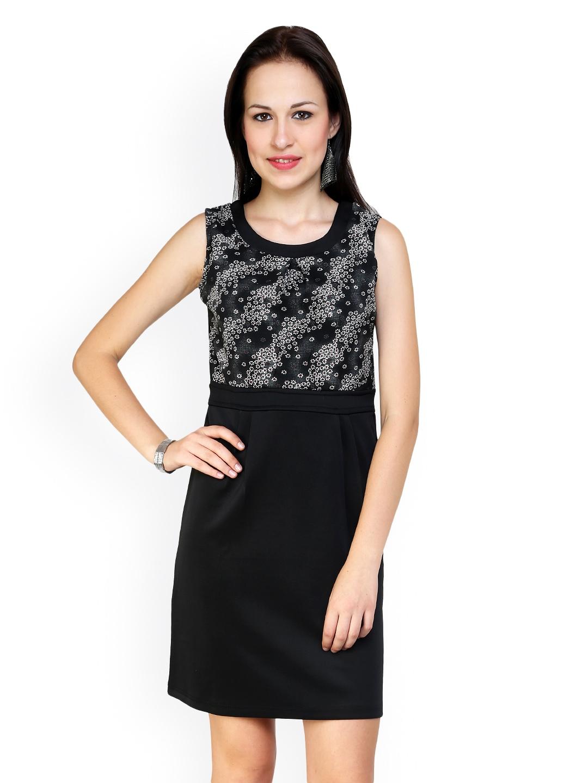 Myntra Vovoka Black Tailored Dress 497659