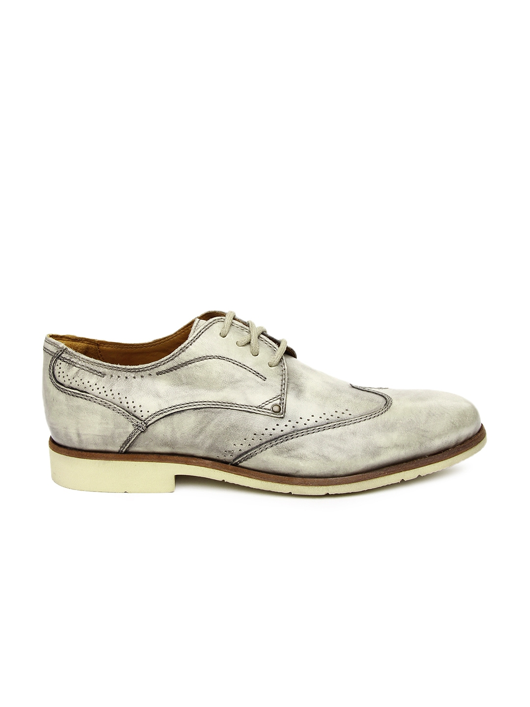 myntra white beige leather casual shoes 332046 buy