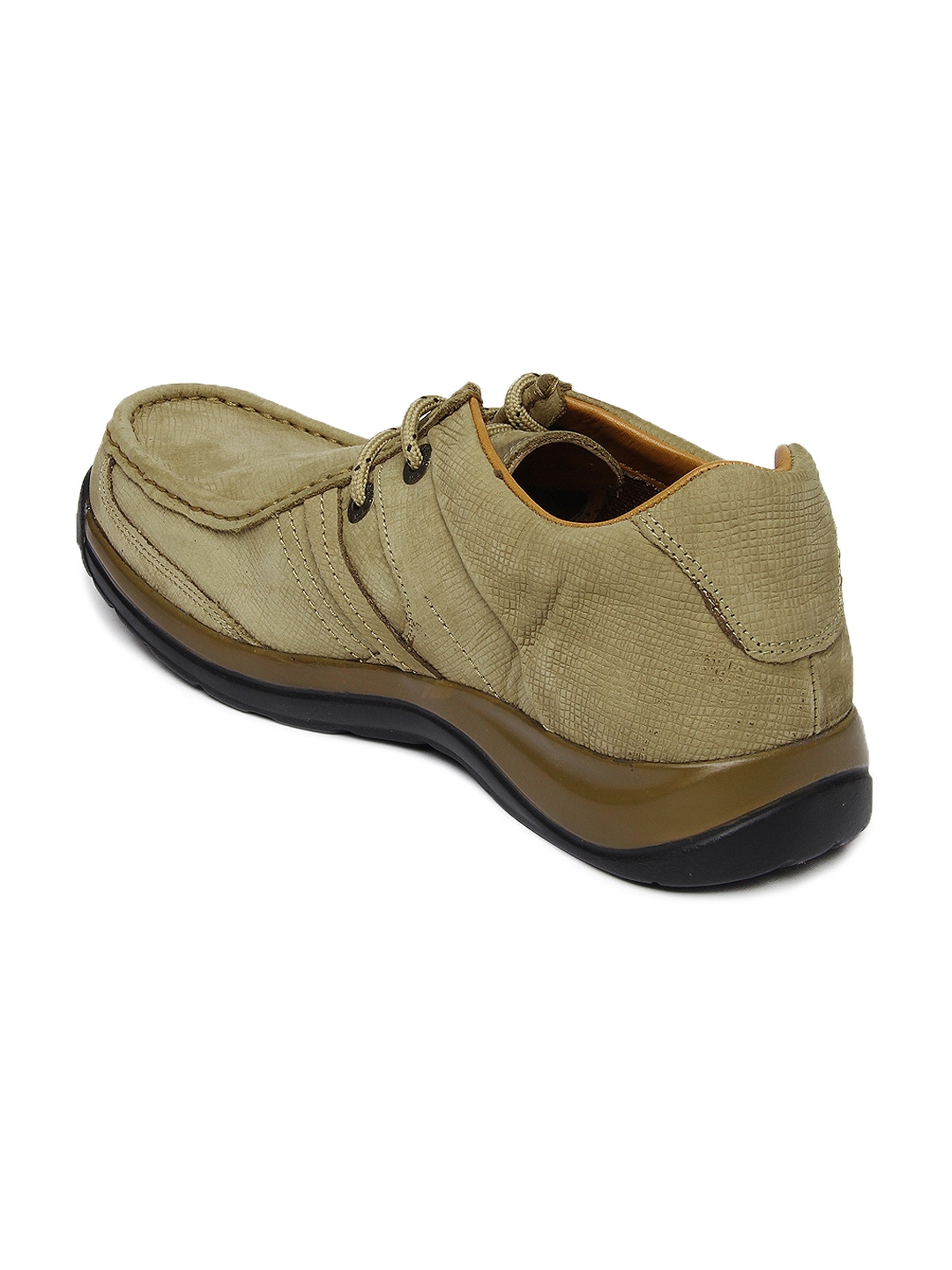 myntra woodland brown leather casual shoes 355642
