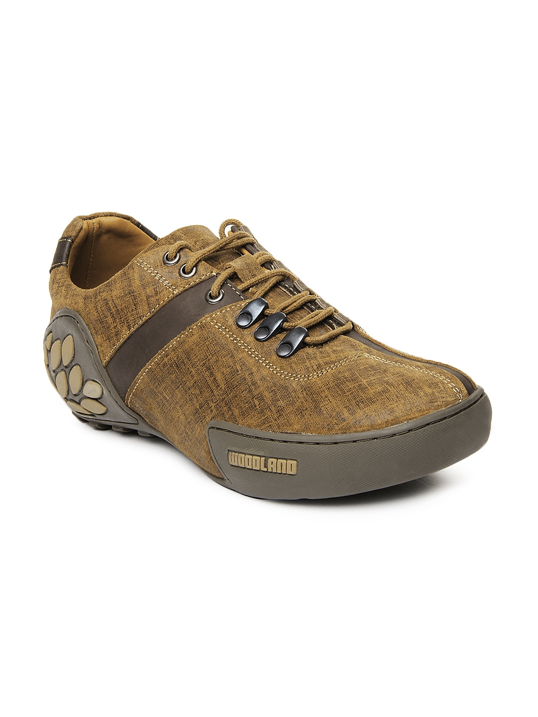 myntra woodland brown leather casual shoes 200777