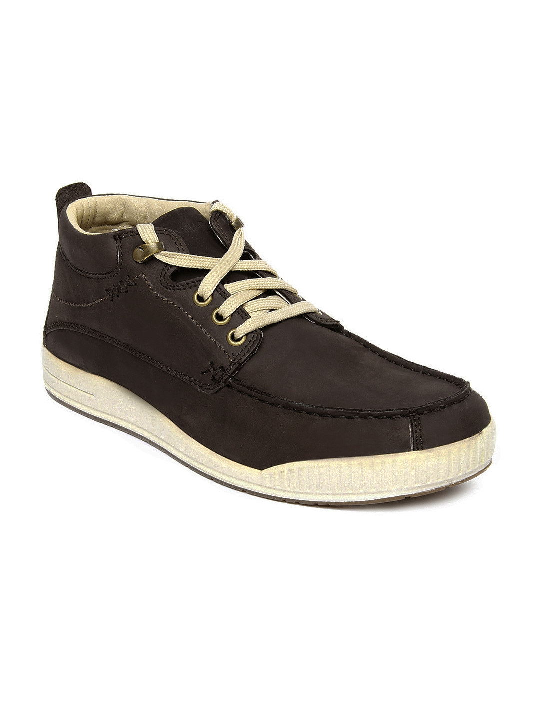 myntra woodland brown leather casual shoes 355629