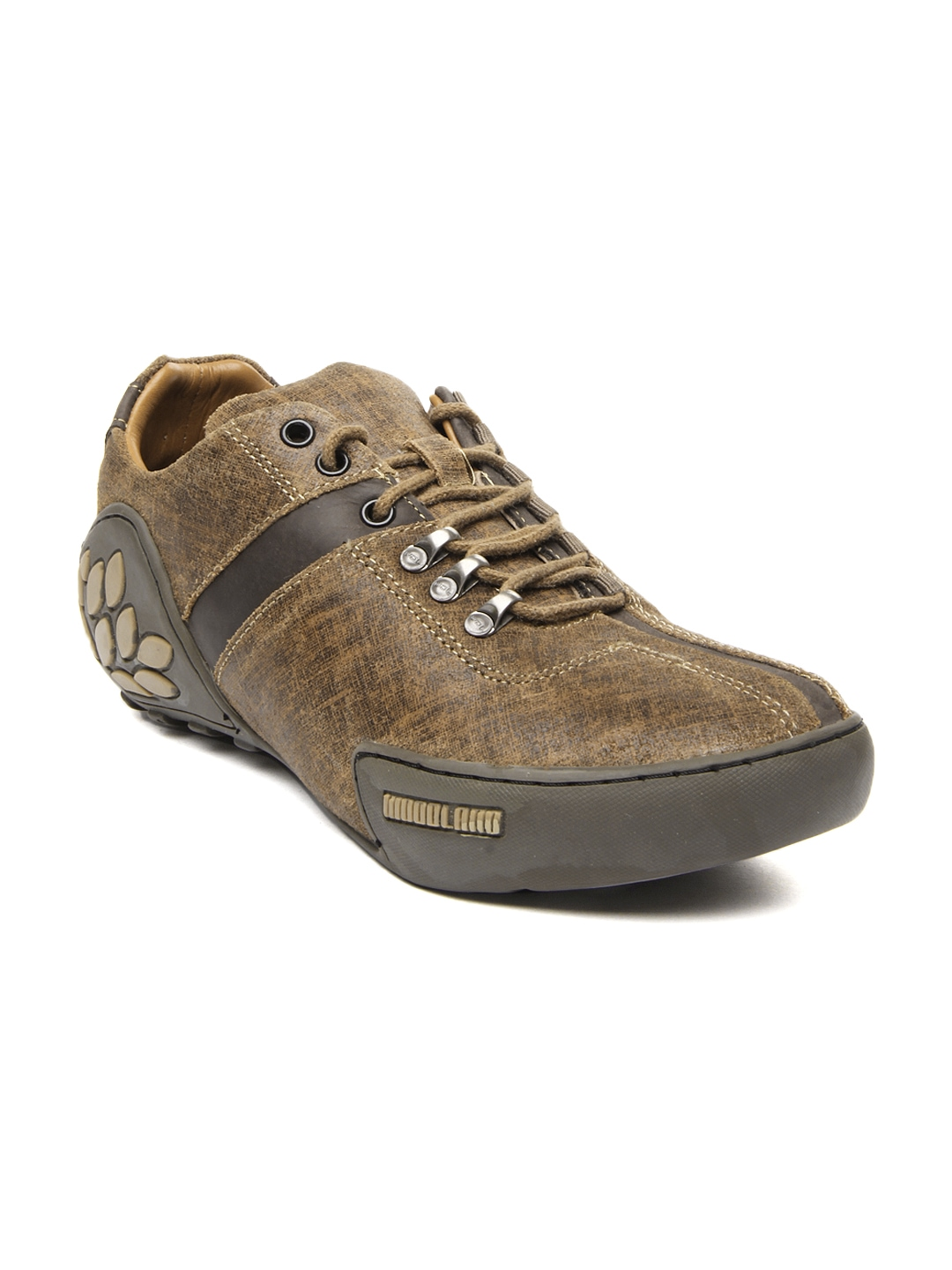 myntra woodland brown leather casual shoes 354621