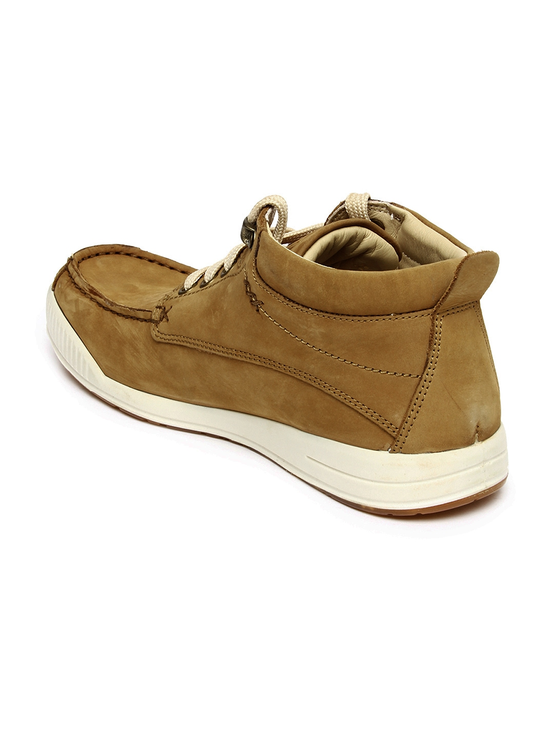 myntra woodland brown leather casual shoes 352159