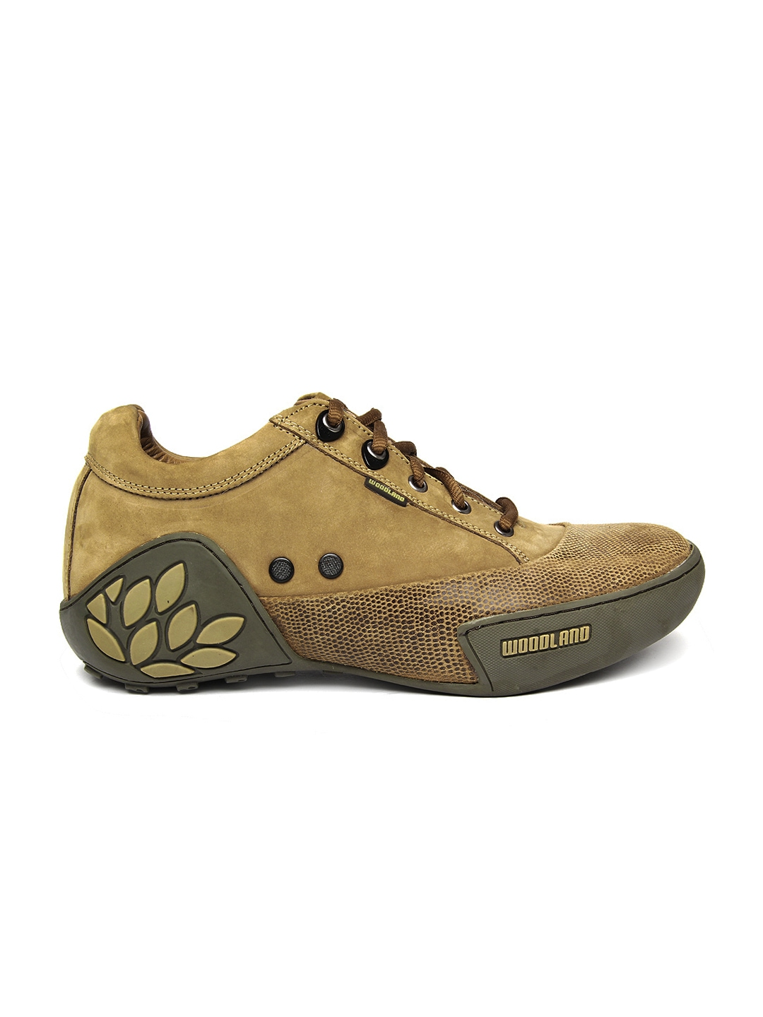 myntra woodland brown leather casual shoes 355633