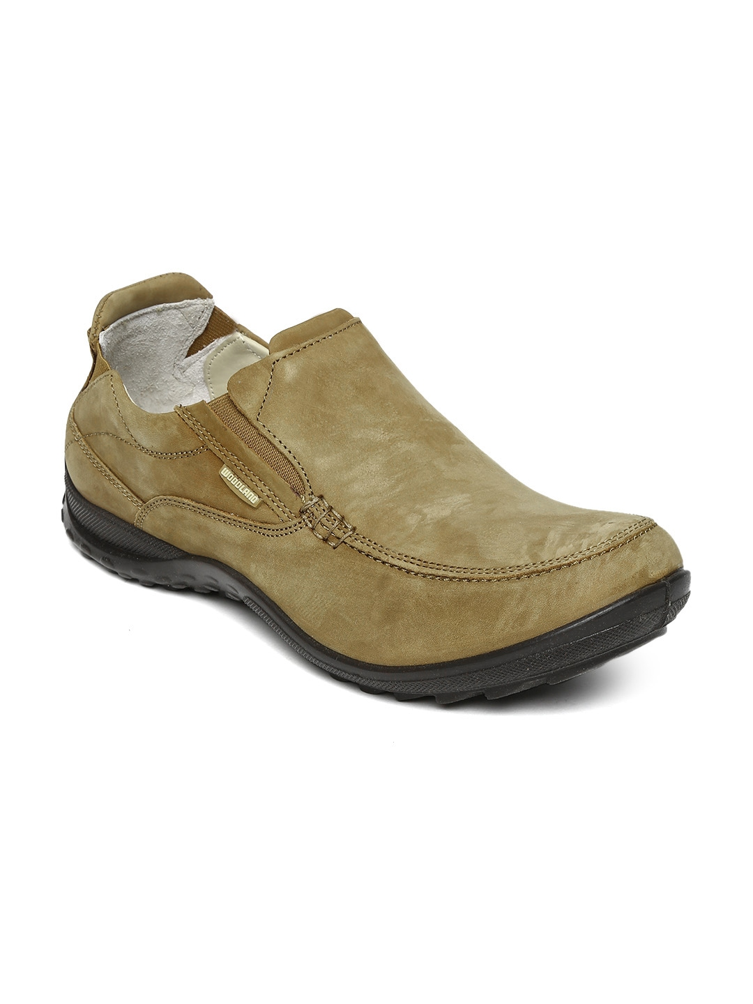 myntra woodland camel brown leather casual shoes