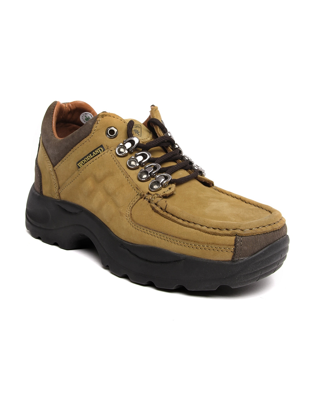myntra woodland brown leather casual shoes 355612