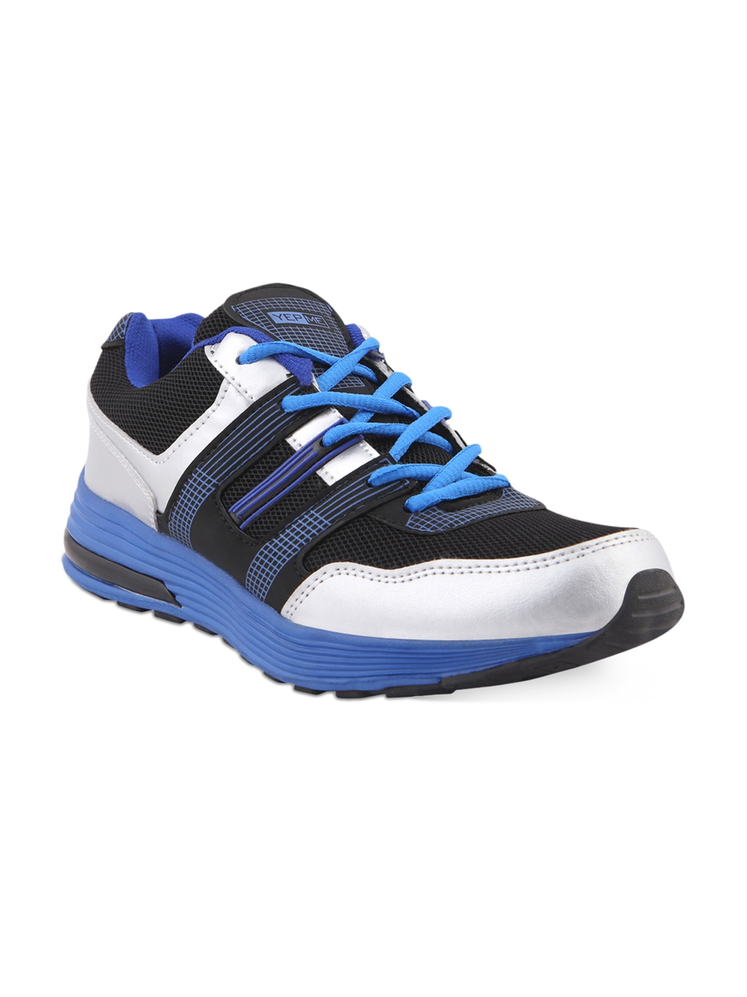 myntra yepme black blue sports shoes 374059 buy
