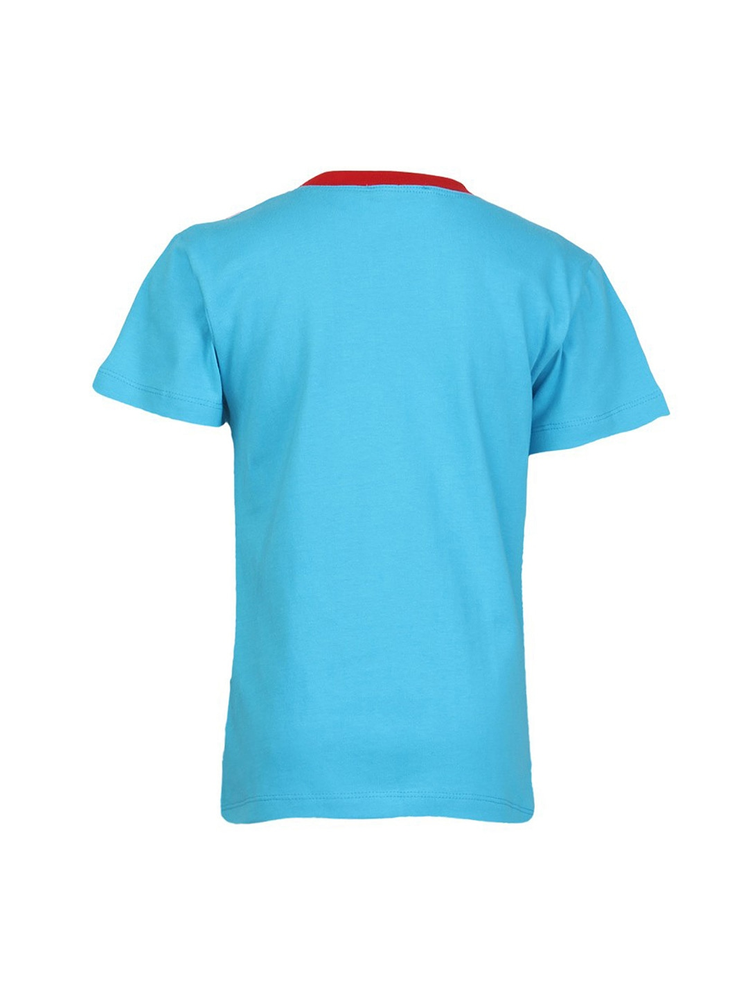 Myntra cool quotient boys turquoise blue printed t shirt for Boys printed t shirts