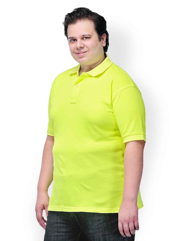 Myntra Pluss Men Lime Green Polo T Shirt 514966 Buy