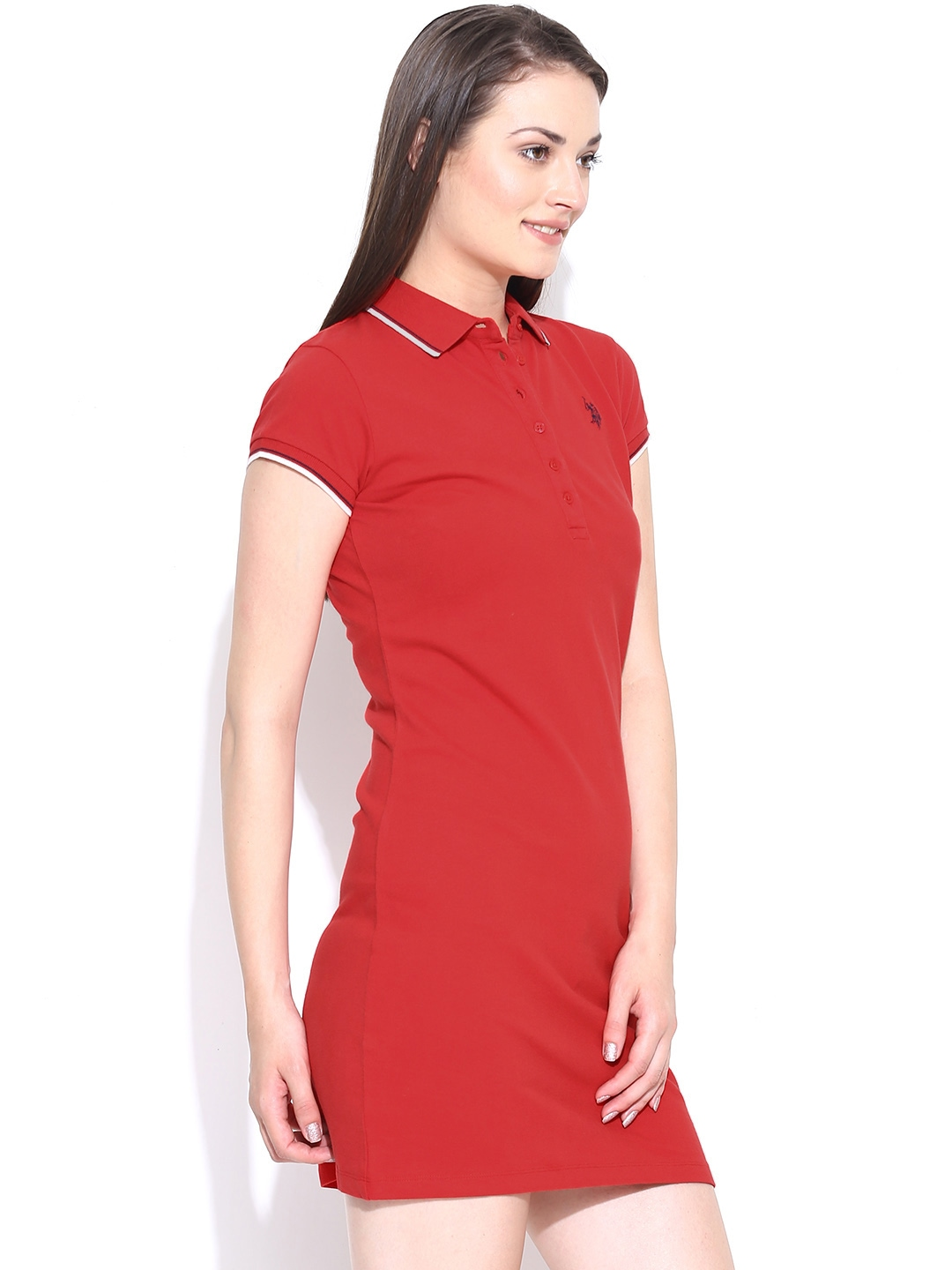 Buy U.S. Polo Assn. Women Red T Shirt Dress - Dresses for Women ...