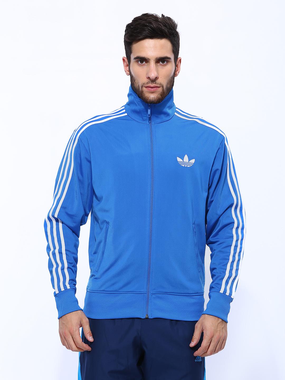 Adidas Originals Men Blue Firebird Tt Track Jacket