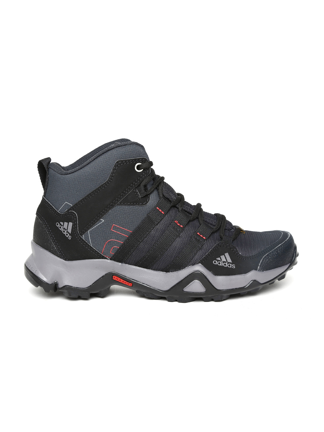 Myntra Adidas Men Black AX2 Mid Outdoor Shoes 625376 | Buy Myntra Adidas Sports Shoes At Best ...