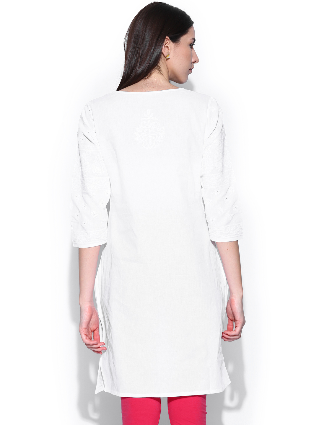 Myntra Fabindia Women White Embroidered Kurta 675267 | Buy Myntra Fabindia Kurtas At Best Price ...
